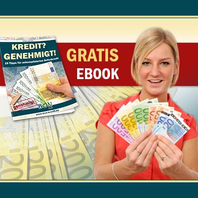 "Kostenloses Ebook: ""Kredit? Genehmigt!""  BonKredit.de"