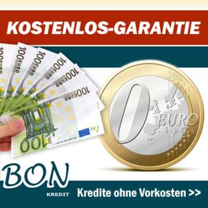Bon-Kredit gibt die Kostenlos-Garantie