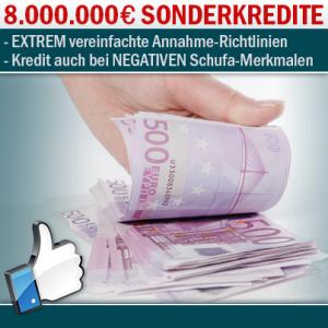 sofort Kredit bis 50.000 Euro pro Person
