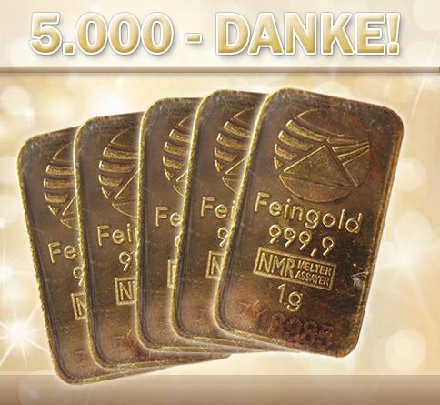Gold-Gewinnspiel bei Facebook