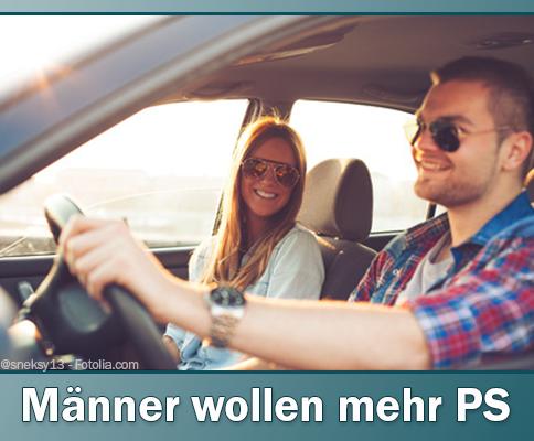 Autokauf: Männer wollen mehr PS