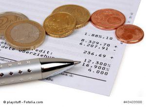 Dispokredite kosten viel Geld - ein Ratenkredit ist wesentlich preiswerter