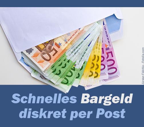Diskretes Bargeld per Post
