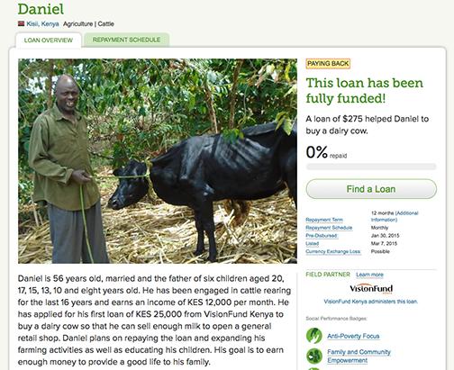 Mikrokredit für Daniel aus Kenia