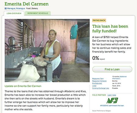 Mikrokredit für Emerita aus Nicaragua