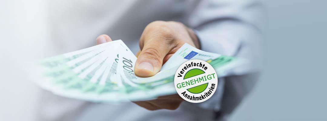 Kredit-Sonderaktion: Vereinfachte Annahmerichtlinien